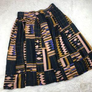 ANTHRO The Odells Geo Print Skirt